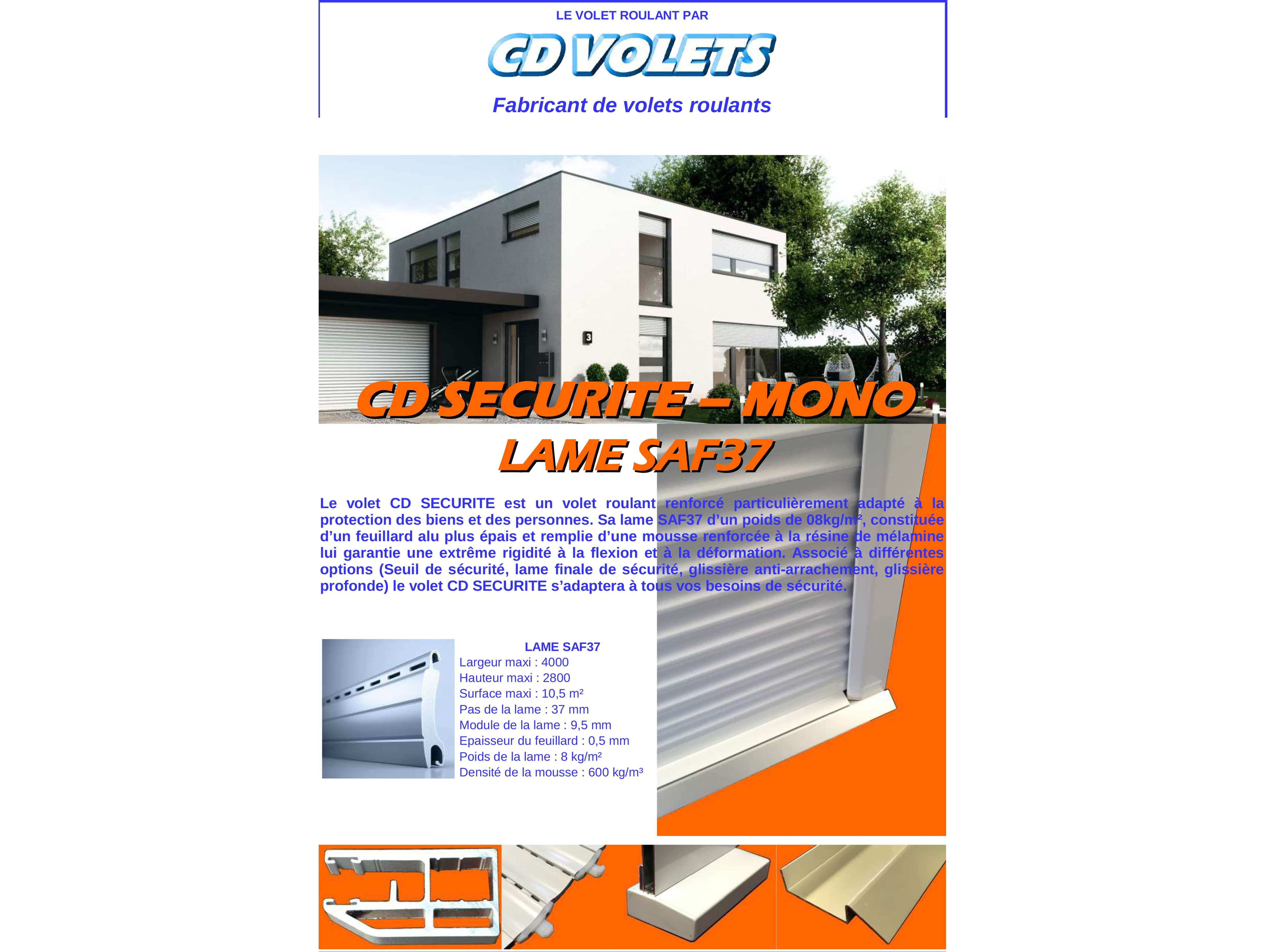 Documentation volets roulants monobloc