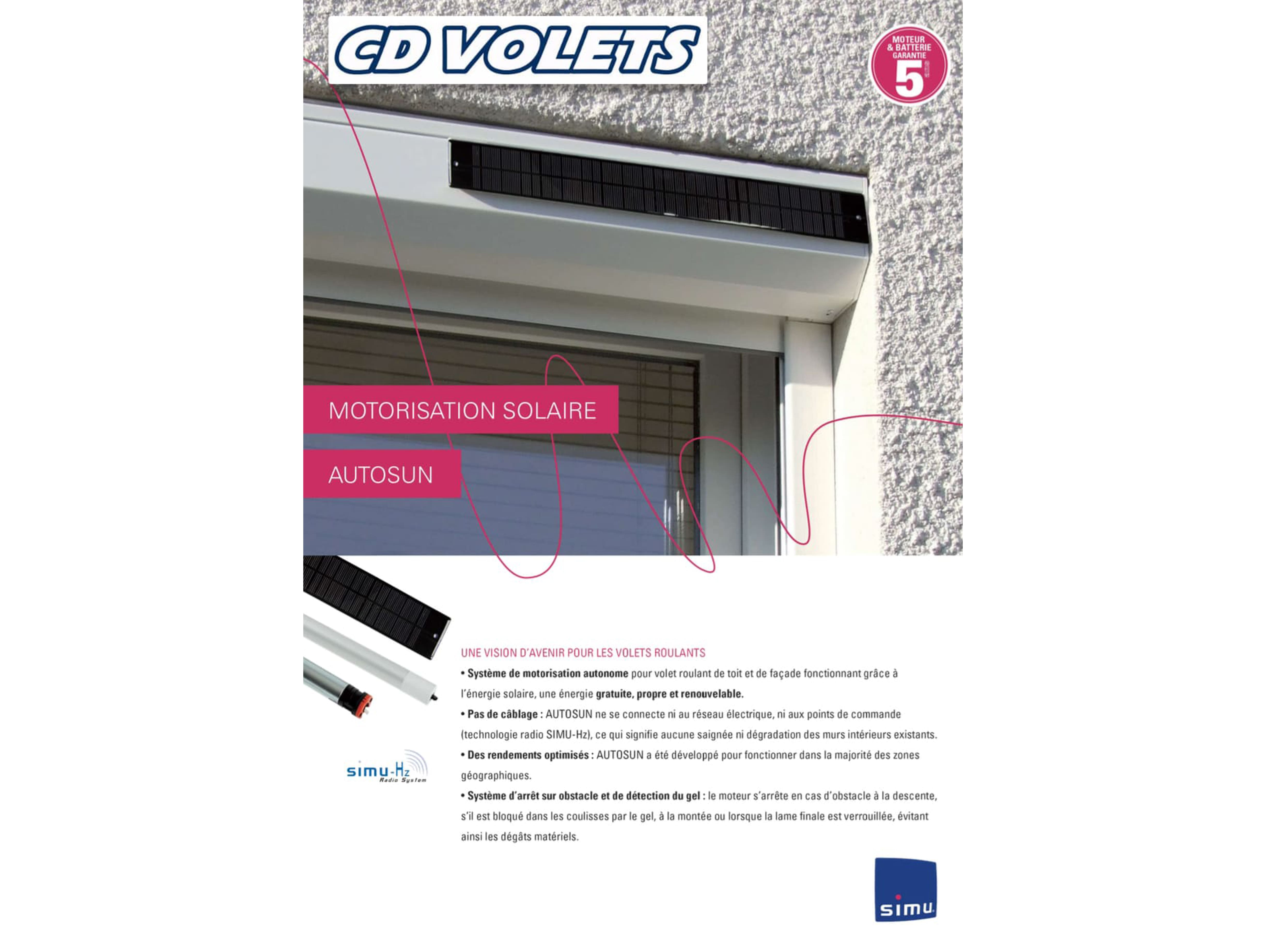 Documentation volets roulants solaire